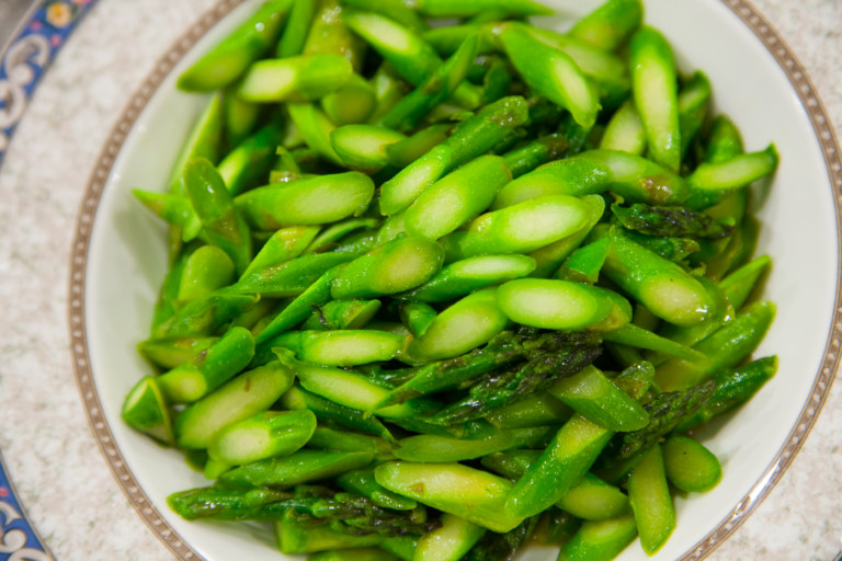 Asparagus with Fish Sauce - Finished