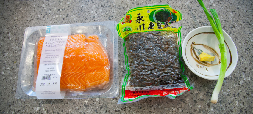 Salmon with Black Bean Sauce - Ingredients