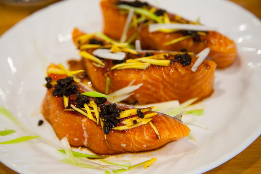 Salmon with Black Bean Sauce - Preparation
