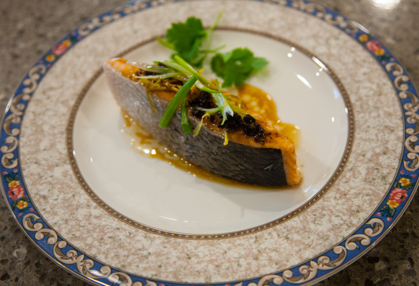 Salmon with Black Bean Sauce - Completed