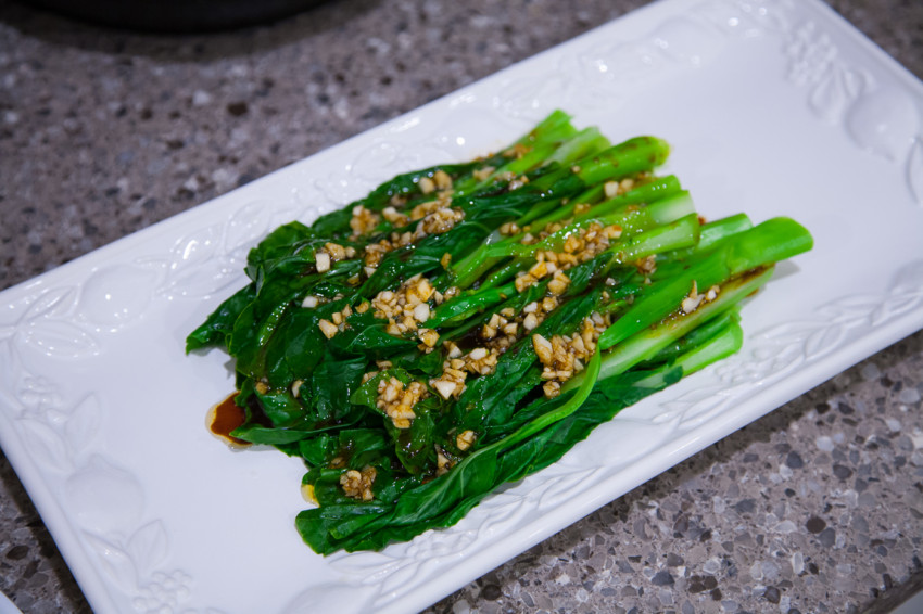 Chinese Broccoli with Garlic Soy Sauce - Complete