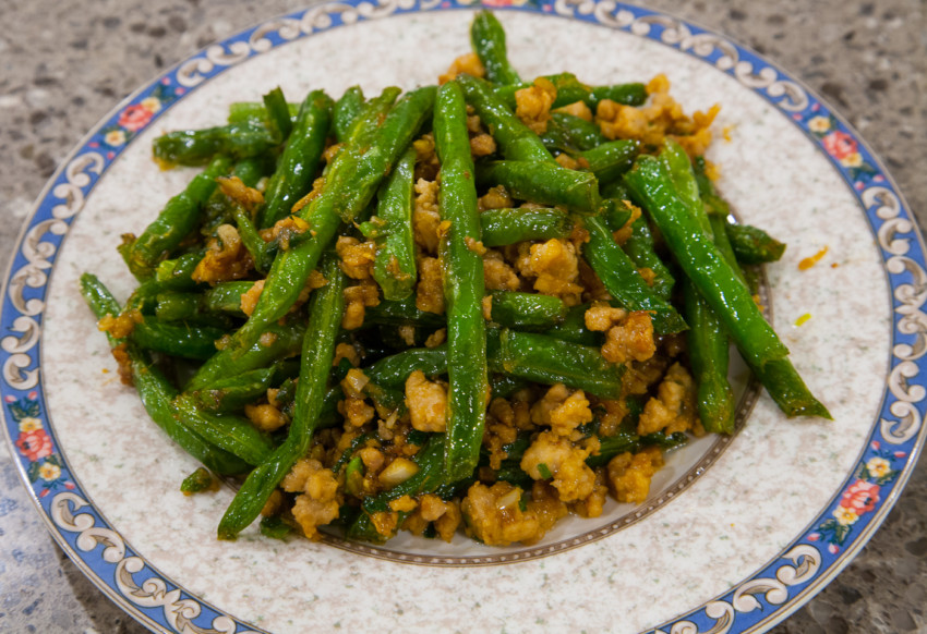 Dry-Fried Green Beans - Finished