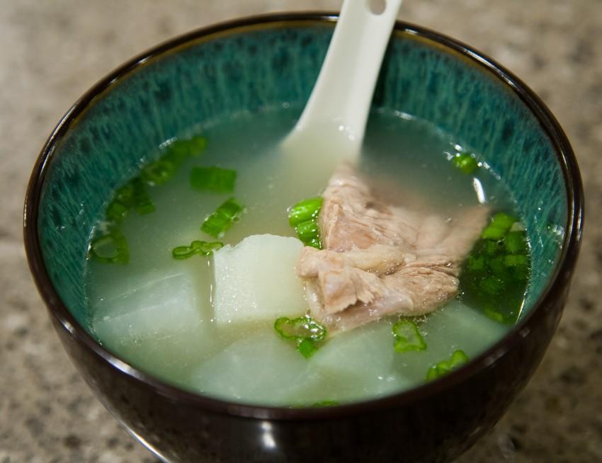 Daikon Pork Bone Soup - Finished
