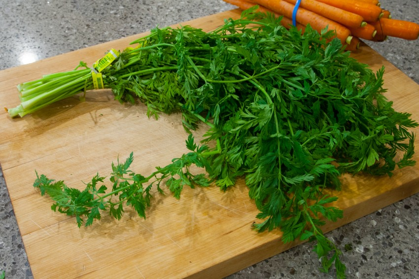 Carrot Greens, Tops, Leaves - Easy Recipe - Ingredients