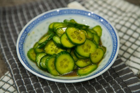 Chinese Cucumber Salad - Completed Dish