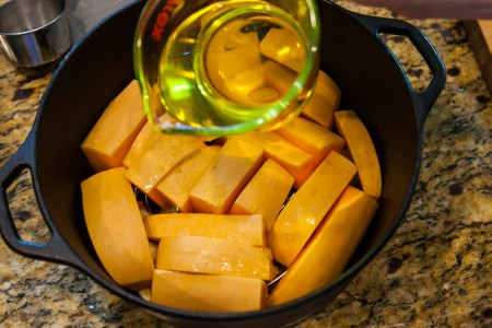 Garlic Butternut Squash - Preparation