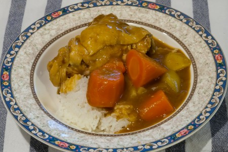 Instant Pot Japanese Bone-in Chicken Curry - Completed Dish