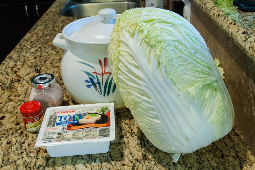 Napa Cabbage Tofu Soup/Stew - Ingredients
