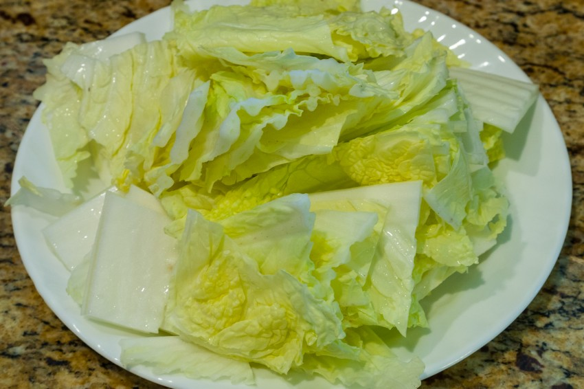 Napa Cabbage Tofu Soup/Stew - Preparation