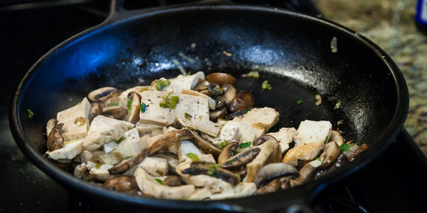 Mushroom Tofu Stir Fry - Preparation