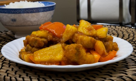 Sweet and Sour Pork - Completed Dish