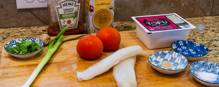 Tomato Fish Fillet Tofu Stew - Ingredients