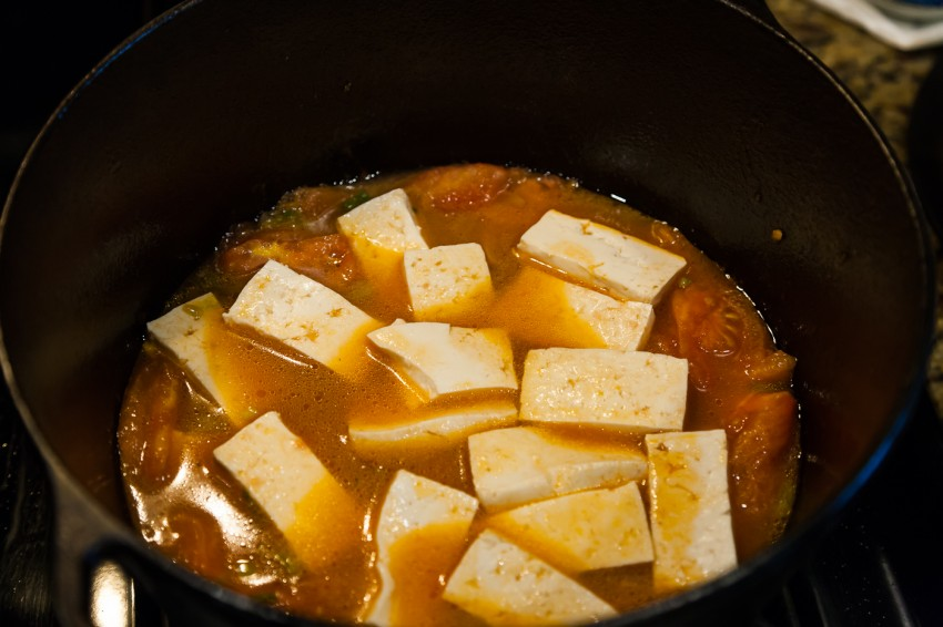 Tomato Fish Fillet Tofu Stew - Preparation