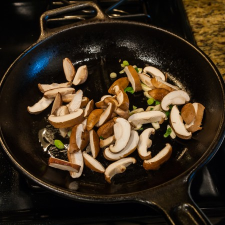 Baby Bok Choy with Shiitake Mushroom - Preparation