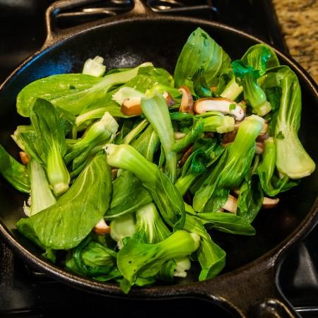 Baby Bok Choy with Shiitake Mushroom - Preparation