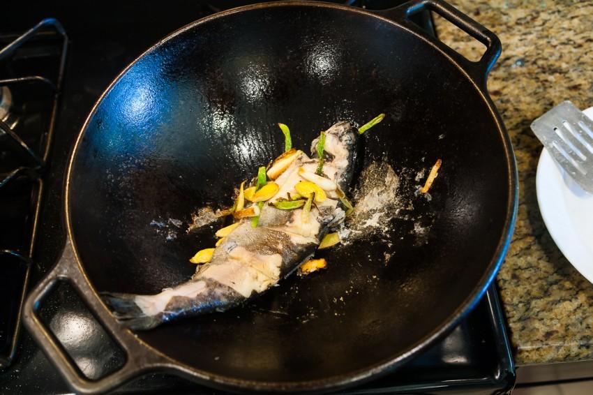 creamy fish soup - preparation