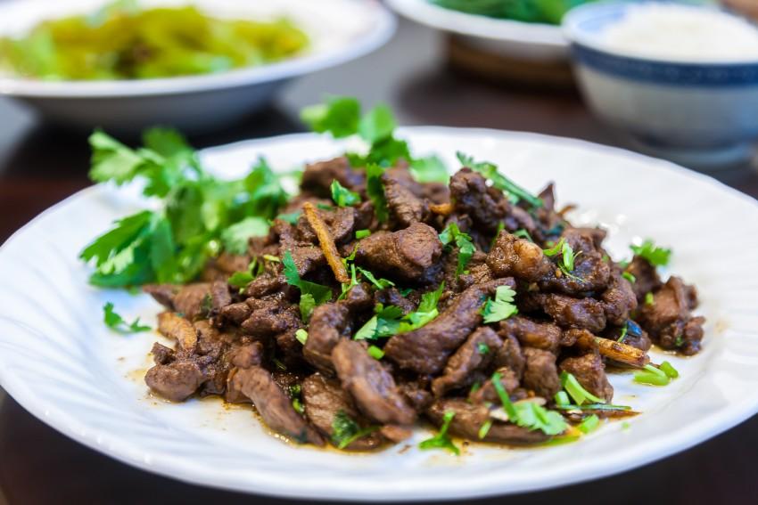 Cumin Lamb - Completed Dish