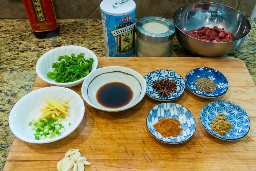 Cumin Lamb - Ingredients