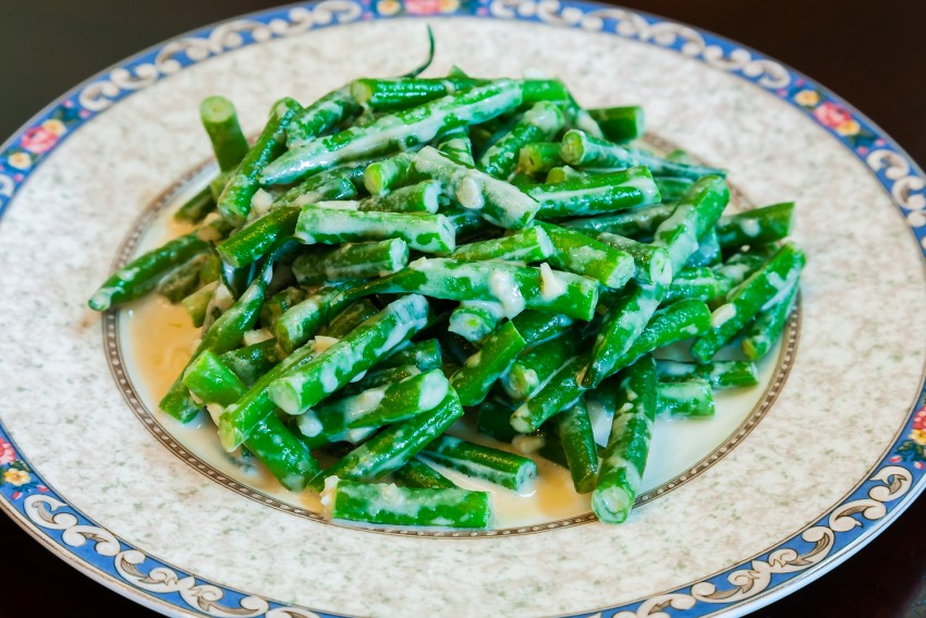 Green Bean Garlic Sesame Salad (凉拌豆角) - Completed Dish