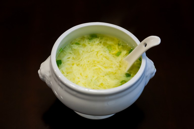 Quick and Easy Egg Drop Soup - Completed Dish