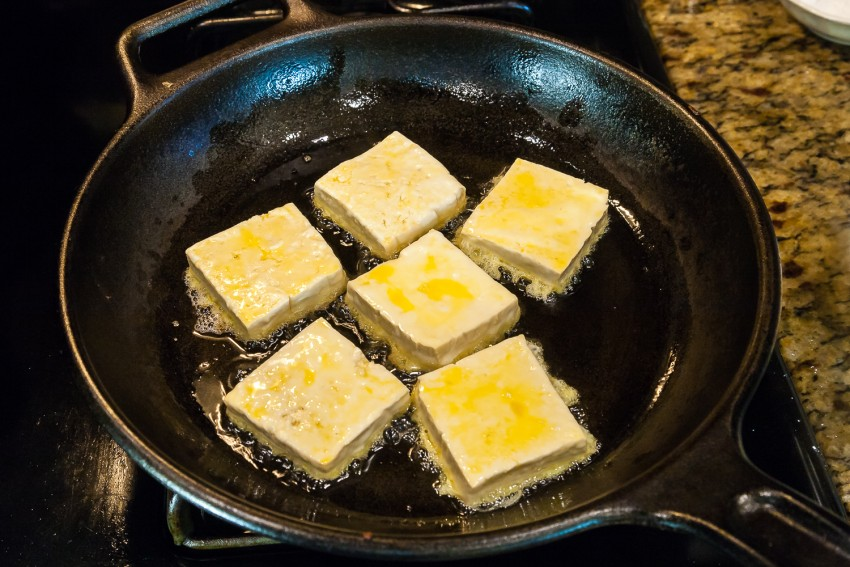 Juicy Fried Tofu - Preparation