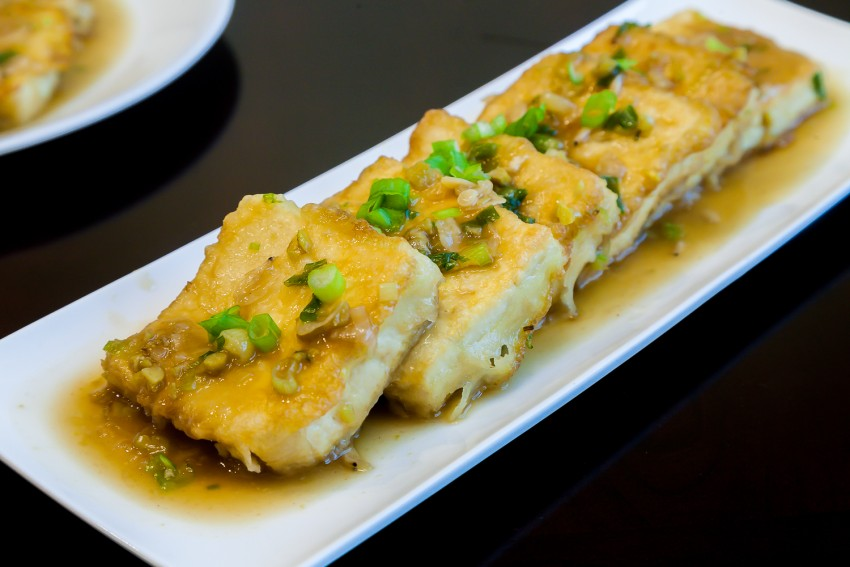 Juicy Fried Tofu - Completed Dish
