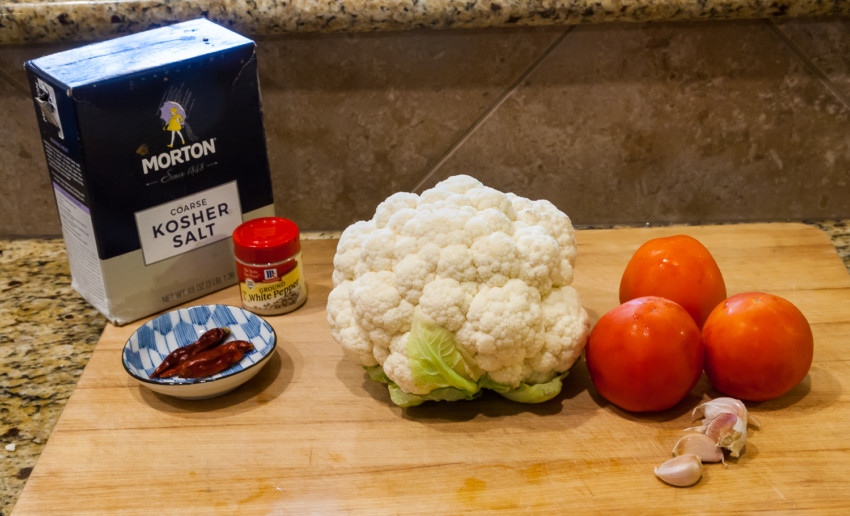 Cauliflower Tomato Stir Fry - Ingredients
