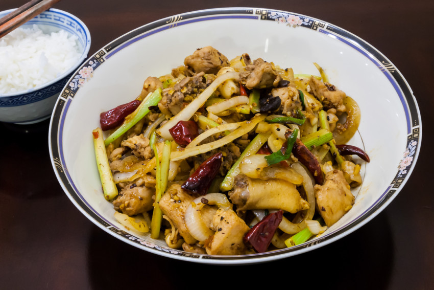 Mala Chicken - Completed Dish