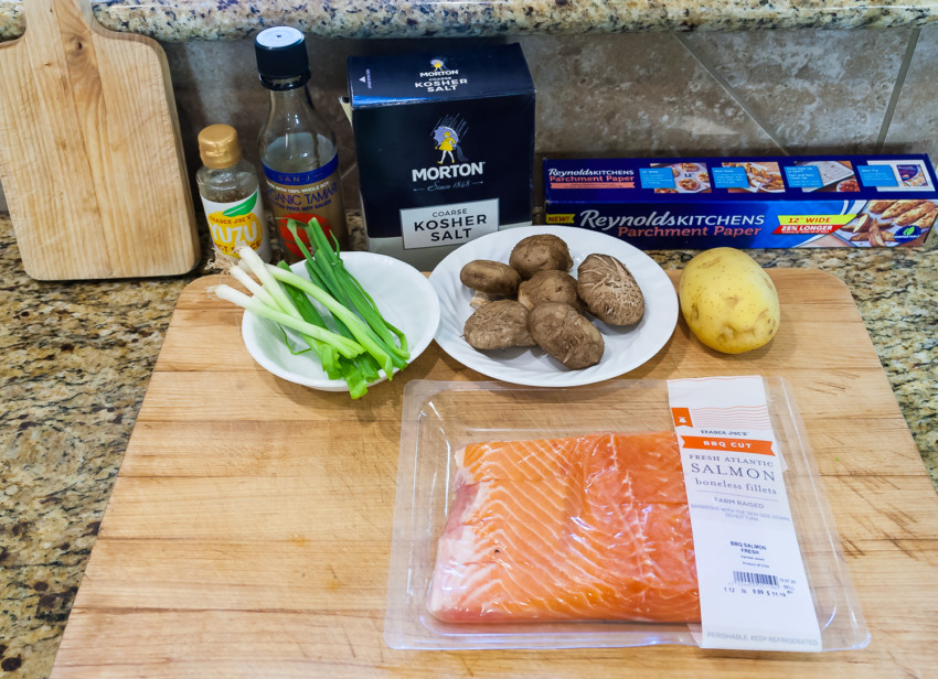 Salmon in Parchment Paper - Ingredients
