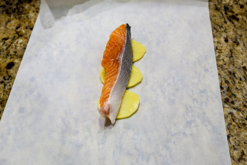 Salmon in Parchment Paper - Preparation