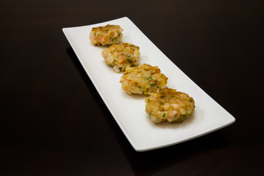 Shrimp Cakes - Completed Dish