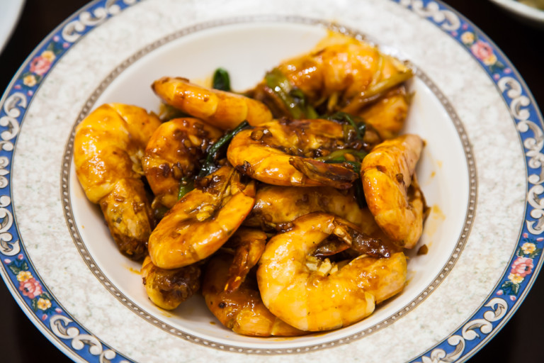 Braised Prawn or Shrimp - Completed Dish