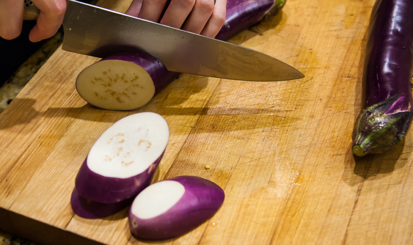 Fired Eggplant Sandwiches - Slicing Eggplants