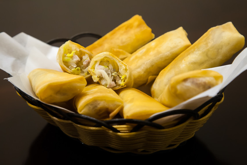 Shanghai Spring Rolls - Completed Dish
