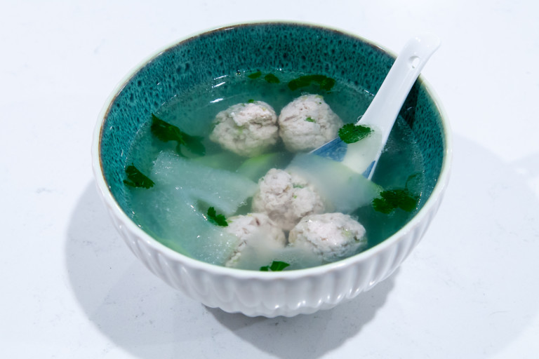 Winter Melon Meatball Soup - Completed Dish