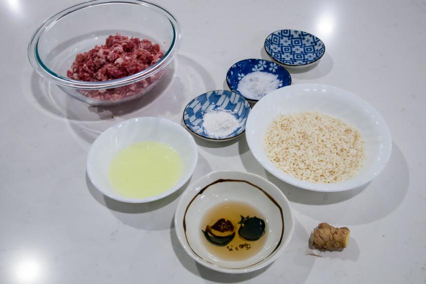 Pear meatballs - ingredients