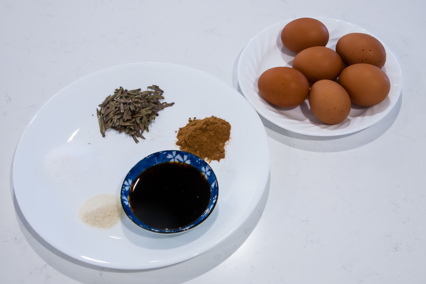 Tea eggs - ingredients