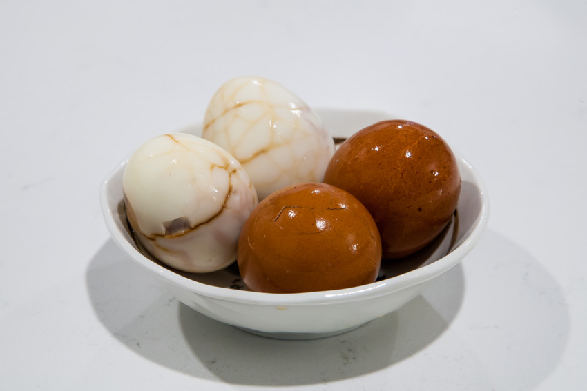 Tea eggs - completed dish