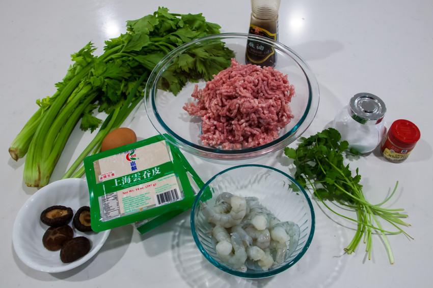 Shanghai Wontons - Ingredients