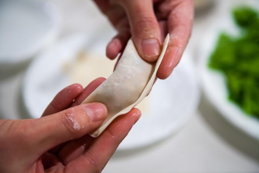 Shanghai Wontons - How to fold wontons