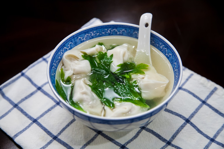 Shanghai Wontons - Completed Dish