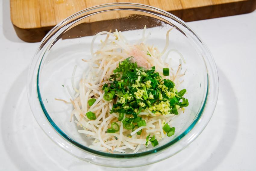 Mung Bean Sprouts - Mixing