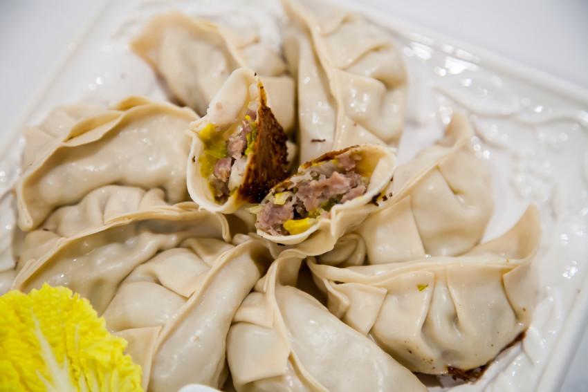 Napa Cabbage Pork Dumplings - Completed Dish