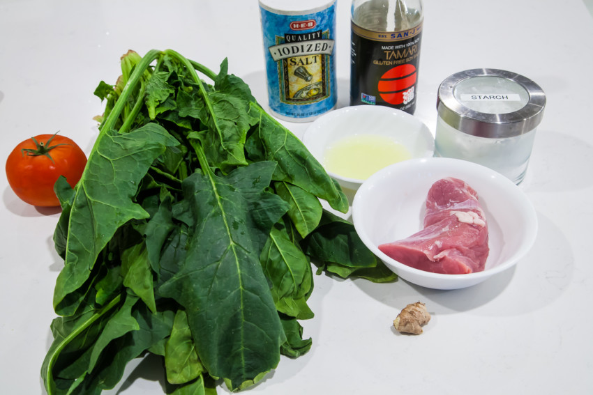 Spinach Tomato Salad - Ingredients