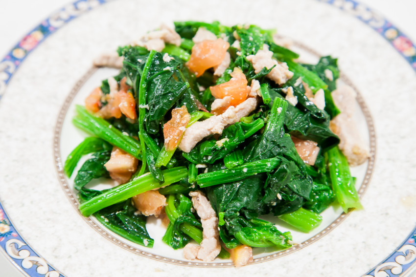 Spinach Tomato Salad - Completed Dish