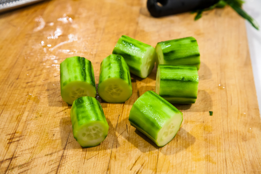 Stuffed Cucumber - Chopped Cucumber