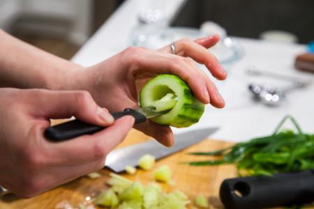 Stuffed Cucumber - Hollowing the Cucumber