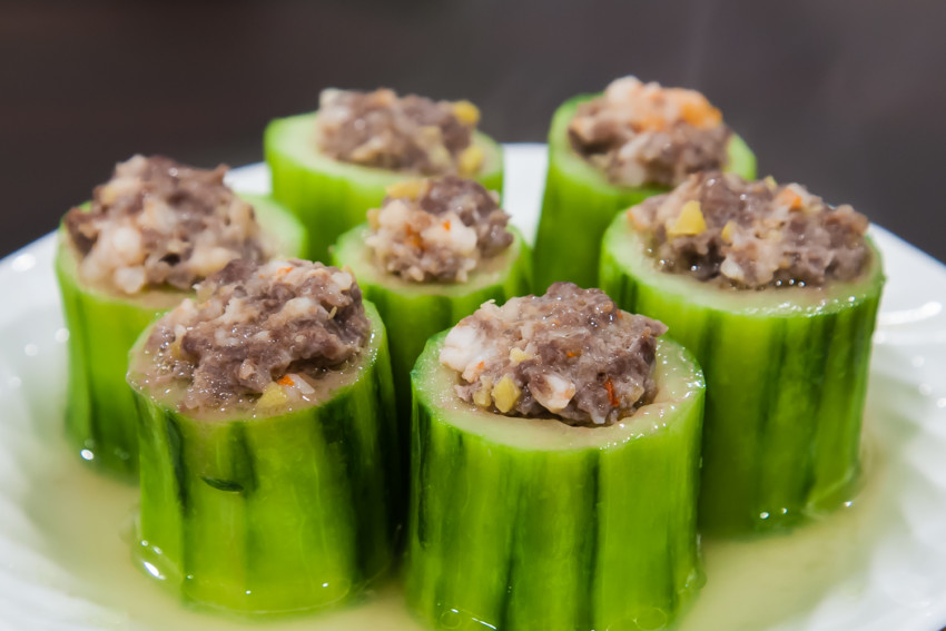 Stuffed Cucumber - Completed Dish
