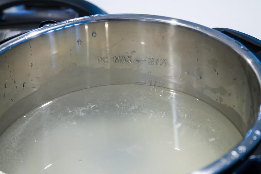 Mushroom Chicken Congee Using Instant Pot - Water