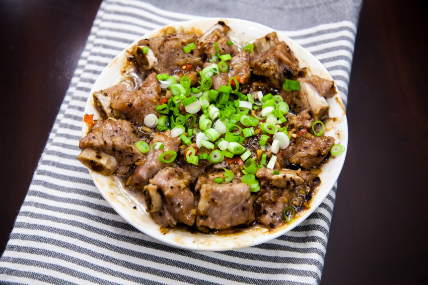 Pork Spareribs with Black Bean Sauce - Completed Dish